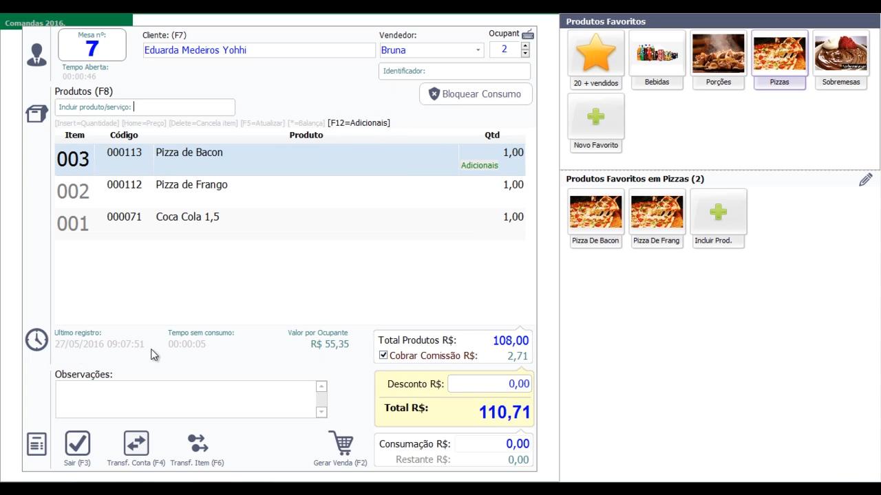 Comandas Móvel Sistema Para Bares e Restaurantes-2157050616-03